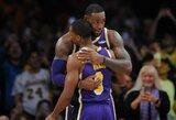 """R.Rondo papasakojo, kaip """"Lakers"""" paveikė A.Daviso mainų gandai"""