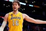 """P.Gasolis norėtų likti """"Lakers"""" klube ir pasibaigus šiam sezonui"""