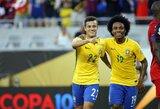 """P.Coutinho vedama Brazilijos rinktinė sutalžė ir išmetė Haitį iš """"Copa America"""""""