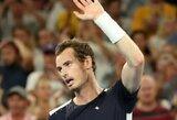 """Dar vieną traumą patyręs A.Murray'us praleis """"Australian Open"""" turnyrą"""