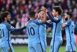"""""""Man City"""" klubas antroje rungtynių pusėje sutriuškino """"Southampton"""""""