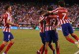 """Įspūdingas Madrido derbis Tarptautinėje Čempionų taurėje: 7 įvarčius pelnęs """"Atletico"""" sutriuškino """"Real"""" futbolininkus"""