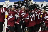 Pirmą pergalę čempionate iškovoję latviai pasiuntė Kazachstano rinktinę į žemesnį divizioną