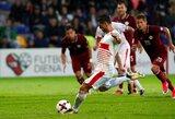 Latvija rezultatyviose draugiškose rungtynėse nusileido Kosovui