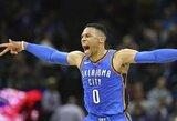 """Didžiulę persvarą iššvaisčiusią """"Thunder"""" išgelbėjo tritaškį su sirena pataikęs R.Westbrookas"""