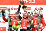 Be klaidų šaudžiusi A.Henkel laimėjo pasaulio biatlono taurės etapo persekiojimo lenktynes