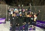 Lietuvos sniego tinklininkės Armėnijoje iškovojo sidabro medalius