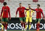 Draugiškose rungtynėse – Portugalijos ir Italijos rinktinių triuškinamos pergalės