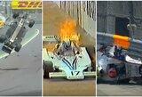 """15 šiurpiausių avarijų ir incidentų """"Formulės 1"""" istorijoje (N-18)"""