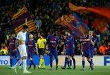 """Viena koja Čempionų lygos pusfinalyje: """"Barcelona"""" sutriuškino du kartus į savus vartus mušusius """"Roma"""" futbolininkus"""