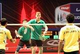 Lietuvos badmintonininkai pasaulio čempionatą baigė nesėkme