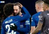 """Pamatykite: Williano ir G.Higuaino veiksmai prieš baudinį sužavėjo """"Chelsea"""" sirgalius"""