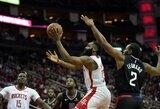 """J.Hardeno 47 taškai nulėmė pergalę prieš """"Clippers"""""""