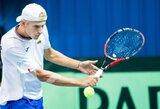 L.Mugevičius vyrų teniso turnyre Estijoje laimėjo vos du geimus