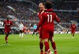 """Dramatišką pergalę rungtynių pabaigoje išplėšęs """"Liverpool"""" tęsia kovą dėl """"Premier"""" lygos čempiono titulo"""