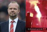 "Atmosfera kaista: nepatenkinti ""Manchester United"" sirgaliai mirtimi grasina klubo vadovui"