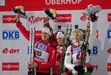 Pasaulio biatlono taurės etapas Vokietijoje baigėsi T.Berger pergale