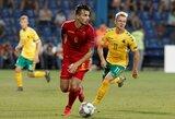 Pirmajame kėlinyje du greitus įvarčius praleidę lietuviai patyrė antrą pralaimėjimą Tautų lygoje