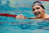Pasaulio plaukimo taurės etapas Olandijoje baigėsi dar vienu K.Hosszu rekordu