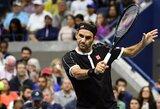"""Pirmą setą pralaimėjęs R.Federeris daugiau nebeklydo ir žengė į kitą """"US Open"""" ratą"""