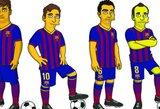 """Bendradarbiavimą su """"Simpsonais"""" pradėjo ir """"Barcelona"""""""