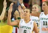 Lietuvos moterų rinktinė 42 taškų skirtumu sutrypė Makedonijos krepšininkes