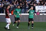 """""""Atalanta"""" Italijos pirmenybėse kirto skaudų antausį """"Milan"""""""