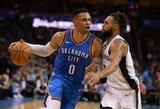 """R.Westbrooko trigubas dublis ir gilėjanti """"Spurs"""" duobė"""