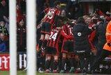 """Įspūdinga: charakterį parodęs """"Bournemouth"""" atsitiesė ir nugalėjo """"Liverpool"""""""