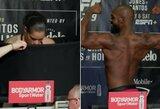 """""""UFC 239"""" turnyro kovotojų svėrimai: A.Nunes teko nusirengti nuogai, J.Jonesas šoko žurnalistams ir demonstravo raumenis, B.Askrenas laužė taisykles"""