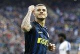 """Italijoje triuškinančią pergalę pasiekę """"Inter"""" pakilo į trečią vietą"""