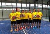 Pasaulio padelio čempionato kvalifikaciniame turnyre Lietuvos vyrų rinktinė iškovojo bronzą