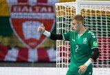 """Salės futbolo rinktinės vartininkas E.Žagaras: """"Kiekvieno žaidėjo svajonė yra žaisti pasaulio čempionate"""""""