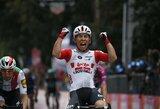 """C.Ewanas laimėjo aštuntąjį """"Giro d'Italia"""" etapą, I.Konovalovas vėl padėjo A.Demare'ui"""