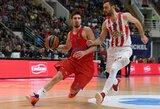 """Eurolygos čempionai reguliaraus sezono finiše įveikė """"Olympiacos"""""""