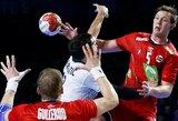 Pasaulio rankinio čempionato A grupės lyderių dvikovoje - sunki Prancūzijos pergalė