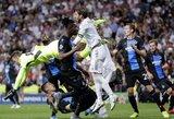 """Čempionų lyga: dviejų įvarčių deficitą panaikinęs """"Real"""" išplėšė lygiąsias su dešimtyje rungtyniauti likusiu """"Club Brugge"""""""