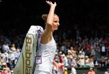 """K.Pliškova apie vyrų tenisininkų nepasitenkinimą dėl lygių pinigų dalybų: """"Tai labai """"skysta"""""""