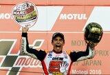 """Neįtikėtina: V.Rossi ir J.Lorenzo krito nuo motociklų, o M.Marquezas užsitikrino """"MotoGP"""" čempiono titulą"""