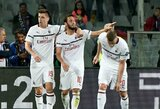 """Dėl teisės kitą sezoną Europoje varžytis kovojantis """"Milan"""" svečiuose įveikė """"Fiorentina"""""""