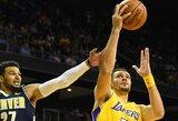 """""""Lakers"""" veikiausiai ilgam prarado starto penketo žaidėją"""