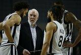 """NBA rekordas: """"Spurs"""" pratęsimą žaidė keturias rungtynes iš eilės"""