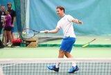 R.Berankio siurprizas jauniesiems tenisininkams: treniruotė ir pamokos, kaip tapti geriausiems