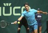 Į finalą patekęs R.Federeris – per vieną pergalę nuo pirmosios pasaulio raketės statuso išsaugojimo