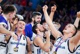 Pamatykite: slovėnų ir ispanų džiaugsmo akimirkos rūbinėje
