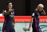 """L.Suarezas taip pat atsisveikino su Neymaru: """"Myliu tave, mažasis broli"""""""