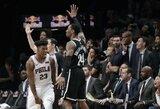 """J.Butlerio tritaškis išplėšė dar vieną """"76ers"""" pergalę"""
