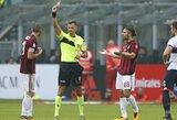 """Be raudoną kortelę gavusio L.Bonucci žaidusi """"Milan"""" namuose neįveikė """"Genoa"""""""