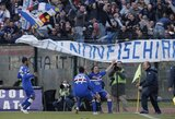 """""""Sampdoria"""" po metų pertraukos grįžta į """"Serie A"""" lygą"""