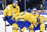 Pasaulio jaunimo elitinio divizione finale - Švedija ir Kanada, į žemesnį divizioną iškrito Baltarusija